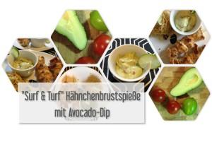 Surf & Turf Hähnchenbrustspieße mit Avocado Dip