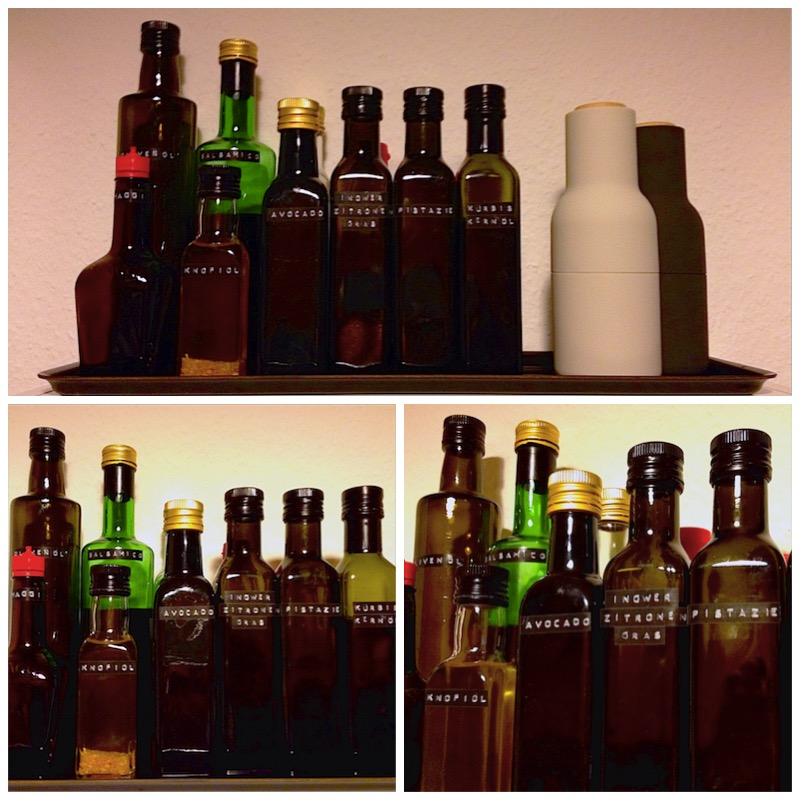Flaschen etikettieren - mehr Ordnung in Küche & Bad