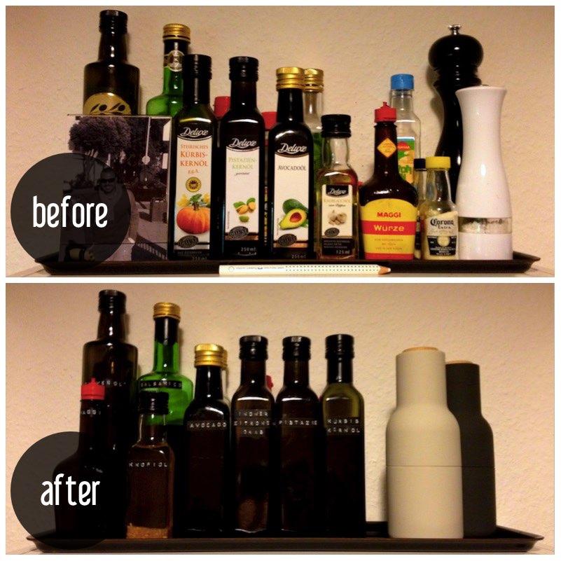Flaschen etikettieren – mehr Ordnung in Küche & Bad | eat blog love