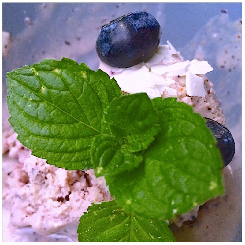 Blueberry Boy - Blaubeereis mit Kokoschips