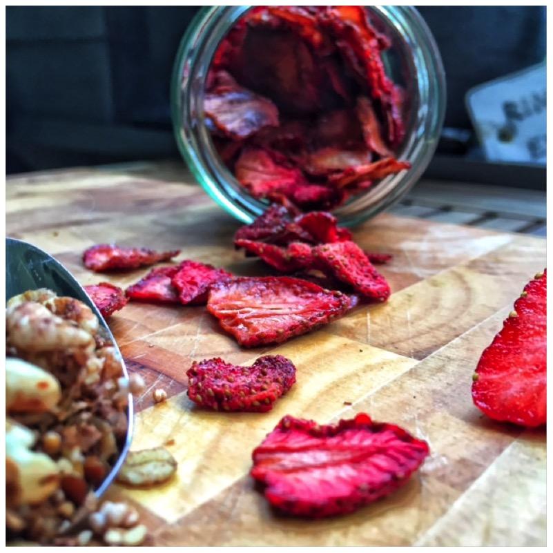 Strawberry Chips - getrocknete Erdbeeren