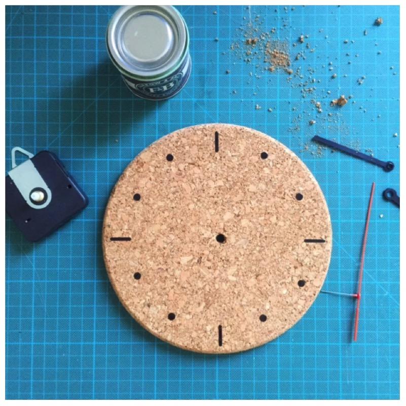 DIY - Uhr aus Kork3