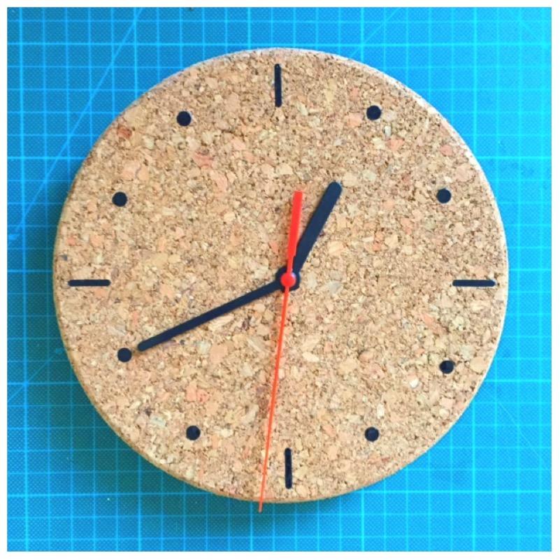 DIY - Uhr aus Kork6