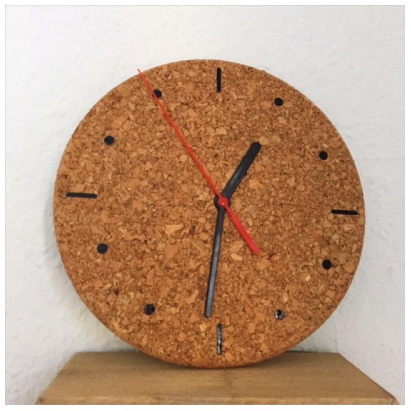DIY - Uhr aus Kork8