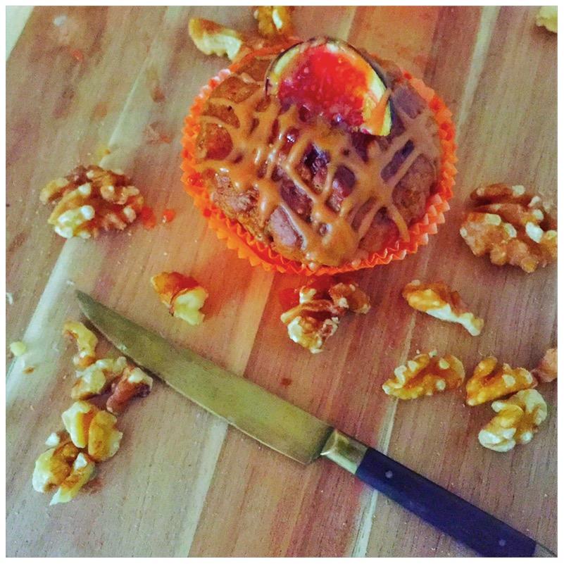 Karotten-Feigen-Muffins mit Walnüssen und Karamell7