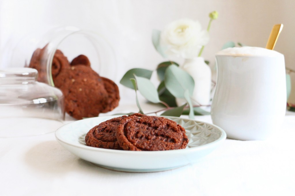 Chocolate-Almond-Liquorice Cookies by eat blog love