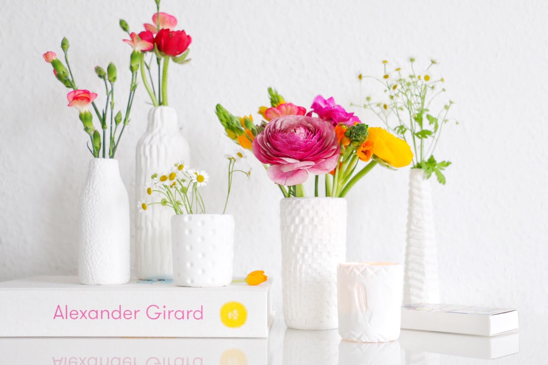 DIY - texturierte Vasen aus FIMO