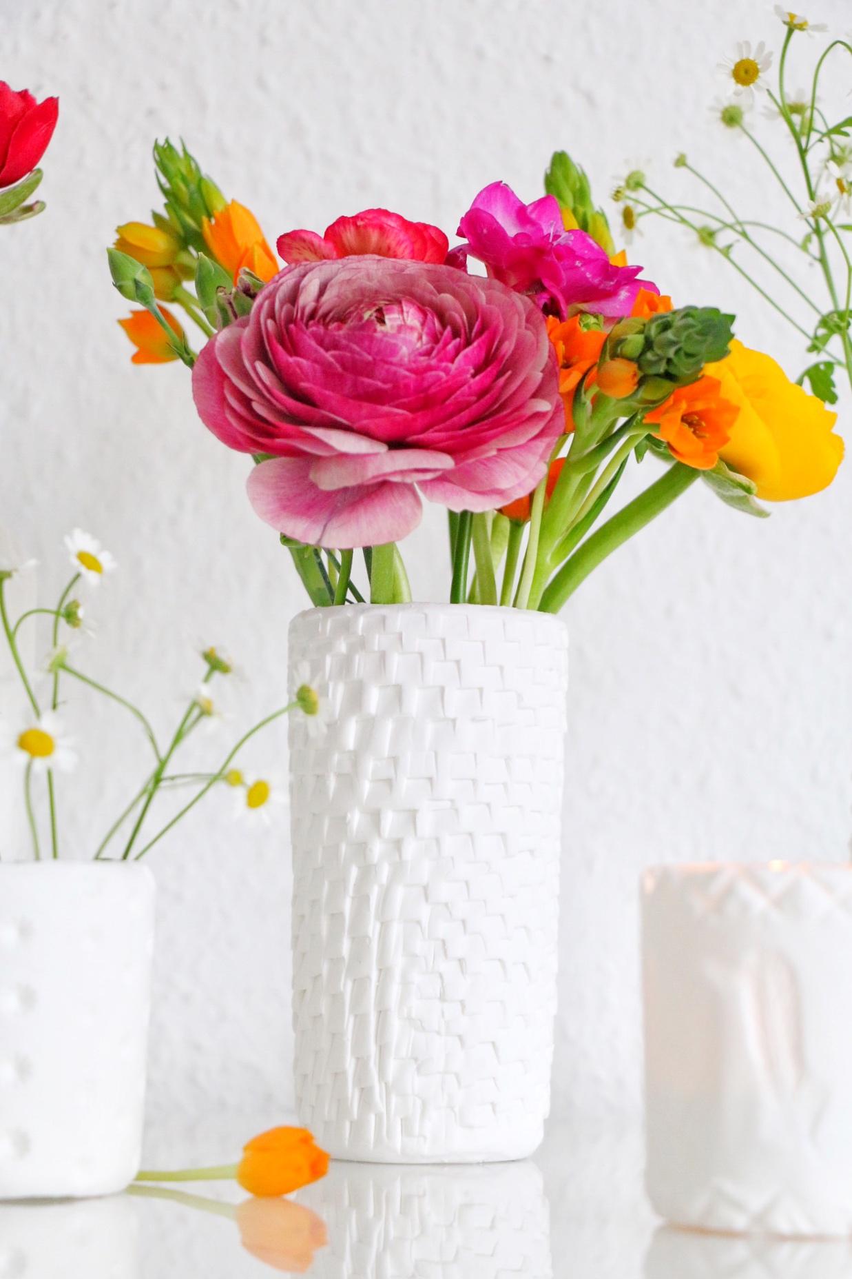 DIY - texturierte Vasen aus FIMO by eat blog love