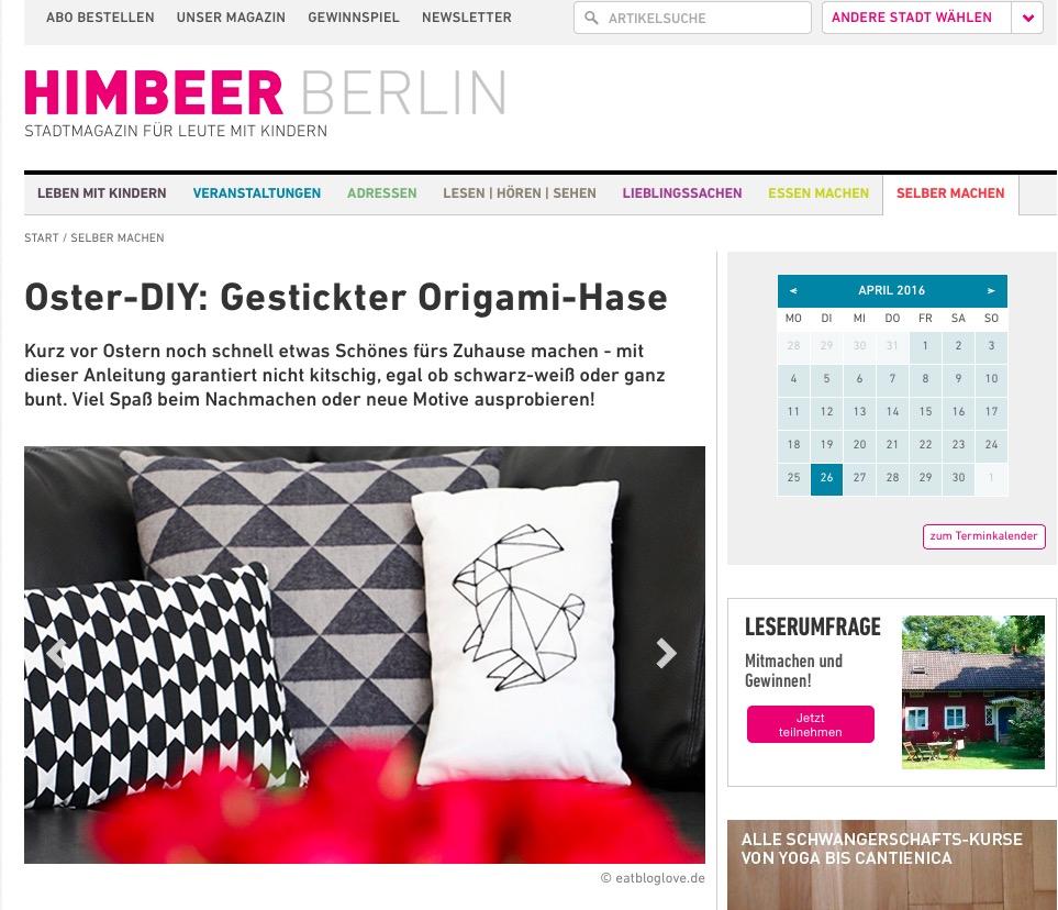 eatbloglove.de auf HIMBEER BERLIN