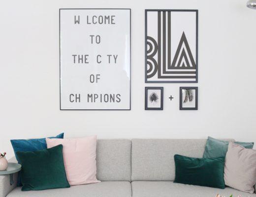 Eine neue Bilderwand in Schwarz und Weiß by eat blog love
