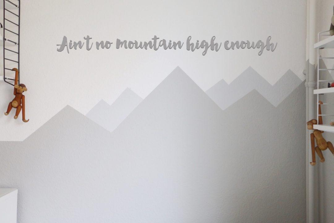 Mountain Nursery Wallpaint Wandgestaltung Im Babyzimmer Eat Blog