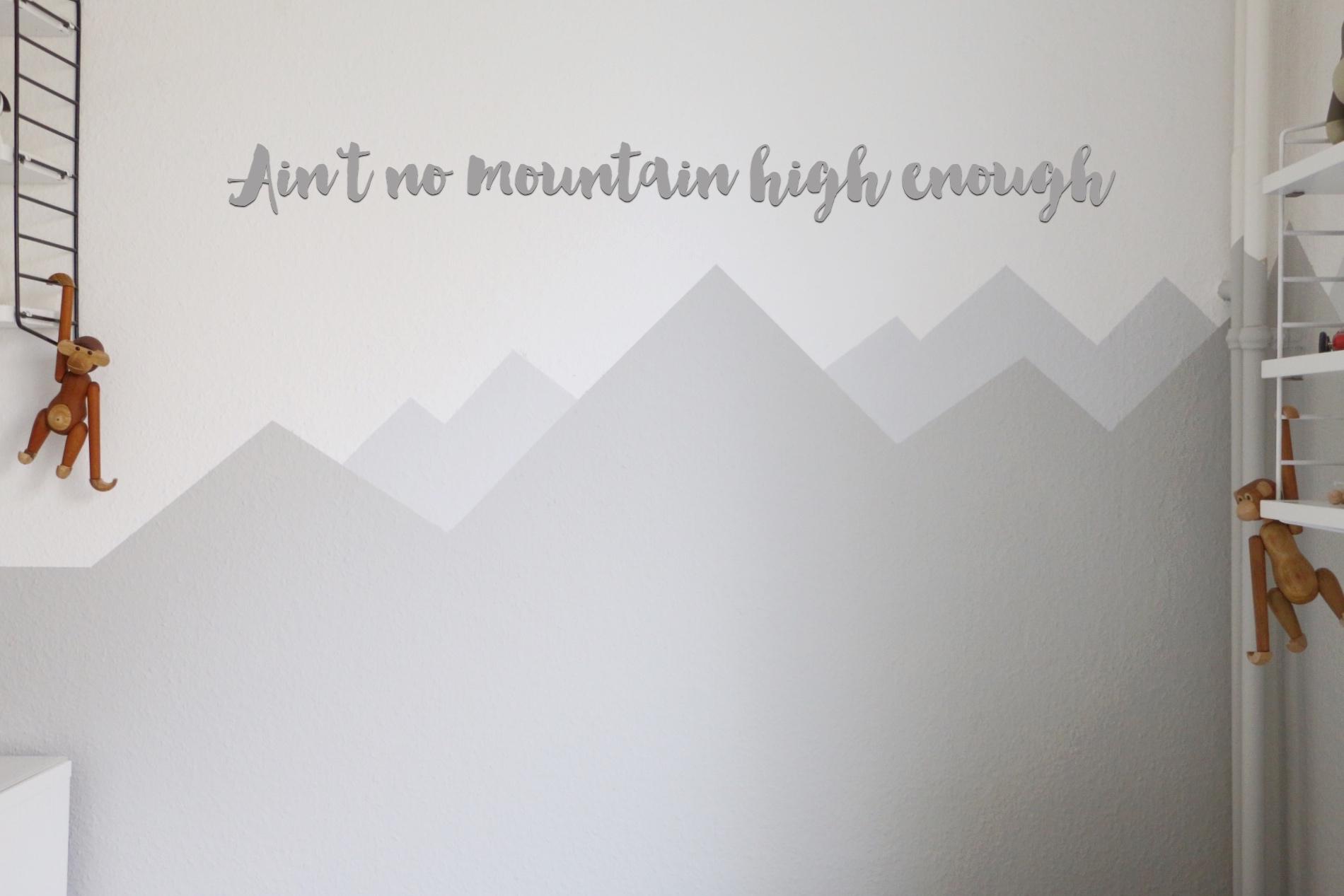 Mountain Nursery Wallpaint Wandgestaltung Im Babyzimmer