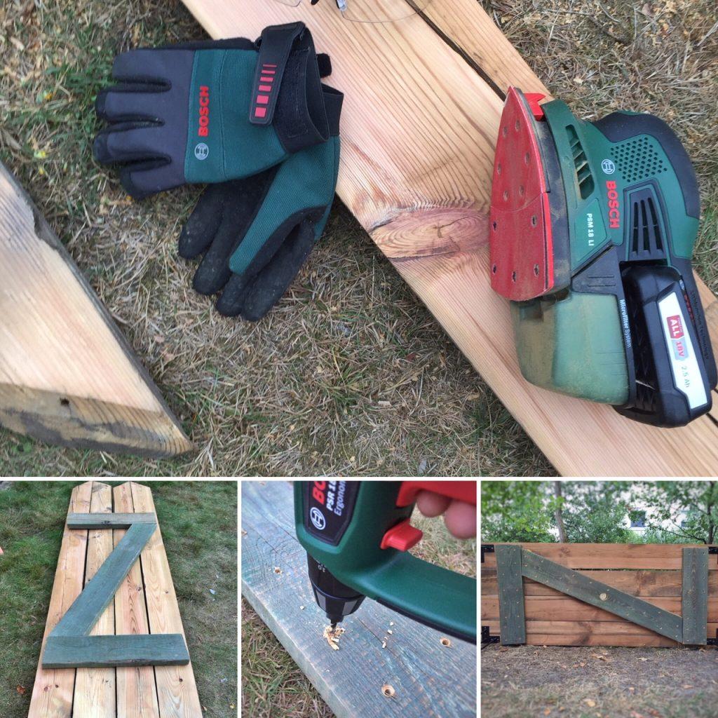 DIY - Gartentisch aus alten Holzbohlen selber bauen by eat blog love