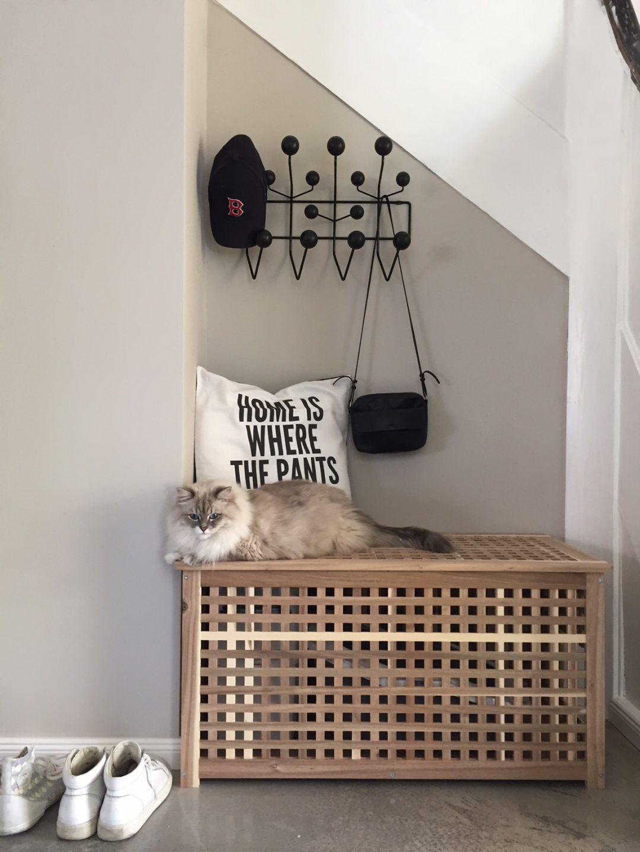 Ikea Hack: Katzenklo stilvoll in einer Sitztruhe integriert by eat blog love