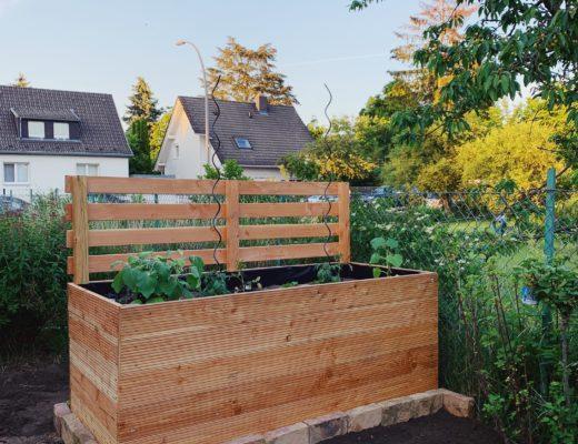 DIY: Hochbeet mit Sichtschutz selber bauen by eatbloglove.de